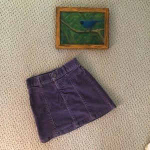 Gap Purple corduroy skirt- 4